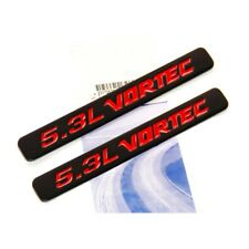 2x OEM 5.3L VORTEC HOOD Emblems Engine Badge Silverado Z71 GMC Sierra Black 2WU