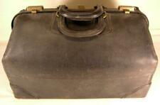 Antique Leather Doctors Travel  Bag The Statler Bag Co.Label With Original Key