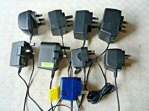 9 AC ADAPTORS MIXED - JOB LOT 15V / 12V / 5V / 3V  - PLEASE SEE LIST >
