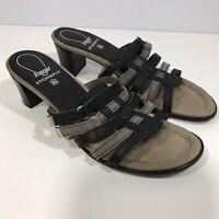 Stonefly Energel Womens Shoes US 9 EU 40 Heels Sandals Brown Black