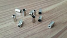10 x Endkappen für Fahrrad Bremshülle Aussenhülle 5mm Silber