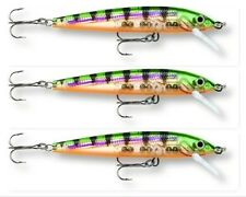 "(3) Rapala Husky Jerk Rattlin Suspending 4"" Crankbaits 3/8 Oz Glass Perch HJ-10"