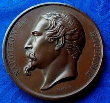 GROSSE MEDAILLE NAPOLEON III EXPOSITION DE DIJON 1858 PAR DOMARD.F