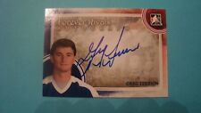 2012 13 ITG FOREVER RIVALS GREG TERRION AUTOGRAPH TORONTO MAPLE LEAFS