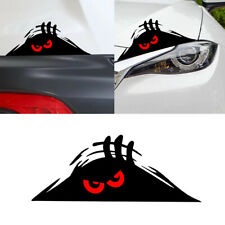 1pcs Funny Peeking Red Eyes Monster Sticker Car Window Vinyl Decal Accessories