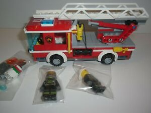 Lego City 60107 Fire Engine Ladder Truck  With Mini Figures