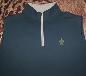 Mint PETER MILLAR 1/4 Zip Pullover Sweater Vest Shirt MERION GOLF CLUB XL Blue