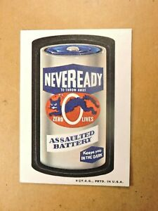 """1973 Wacky Packages """"Neveready"""" (stk# S1081)  Series 3 TB"""