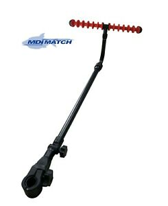 MDI Match Chair Extendable Adjustable Tilt Fishing Feeder Arm Rest & Red Rest