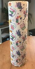 """Vintage department general store roll wrapping paper 18"""" Baby Shower Birthday"""