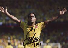 Signed Radamel Falcao Colombia Photo 12x8.  Autograph. Also Man Utd,Porto,Madrid