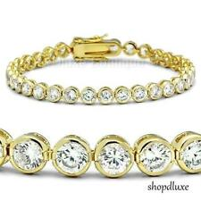 "8.50 Ct Round Cut AAA CZ Cubic Zirconia 14k Gold Plated 7"" Tennis Bracelet"