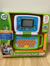 Leap Frog 2-in-1 LeapTop Touch Laptop green kids toy tablet