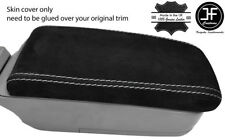 GREY STITCH REAL SUEDE ARMREST LID COVER FITS SUBARU FORESTER SG9 2006-2008