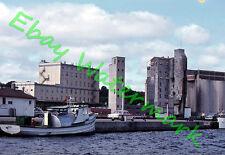 Tug Boat Locks Ships Cars Old Pier Sault Ste Marie 1962 Agfa Slide
