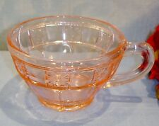 Pink Depression Glass Jeannette Doric Cup