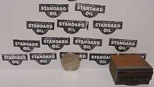 Vintage Standard Oil Printing Block Sign Gas Station Motor Oil Display Item
