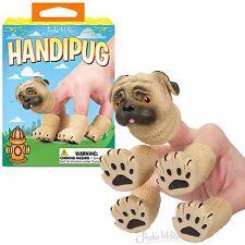 HANDIPUG soft vinyl finger puppet PUG Dog Puppy - Novelty Fun Gag Gifts