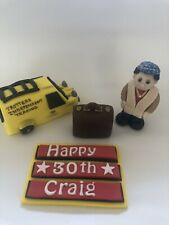 Only Fools And Horses Edible Cake Topper Del Van Suit Case  . Name Plaque