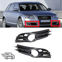 NEW AUDI A6 C6 05 - 08 FRONT BUMPER FOG LIGHT GRILLE TRIM PAIR LEFT + RIGHT