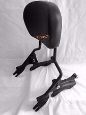 Detachable Black Backrest Sissy Bar w/ Docking Hardware For Harley Touring 14-18