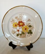 """Vintage Design Two Stoneware 10 1/4"""" Ferndale Floral 1522 DINNER PLATE L@@K"""