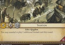 3 x Taxation AGoT LCG 2.0 Game of Thrones Core set 24