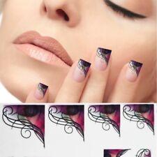 Nagelsticker Bunt Lila Nailart Tattoo Nagelaufkleber Nägel French StickerXF1315