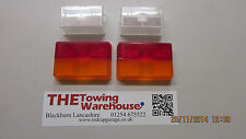 Oblong Rubbolite Front  AND Rear Lamp/Light Lens set for Ifor Williams Trailers