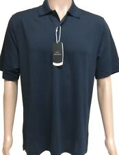 Greg Norman Hommes's Play Dry Polo Shirt Wicking Protection UV Bleu Marine 42""