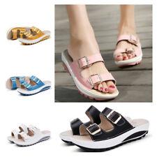 Women Platform Flip Flops Summer Boho Beach Sandals Casual Roman Slippers Shoes