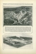 1927 Magazine Article Construction of Nueburg Ring Race Track Racetrack Germany