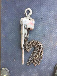 CM Series 640 Lever Chain Hoist 3 Ton 10' Lift, Come Along, Puller