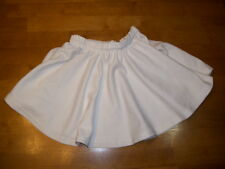 Used Cheerleading Skirt color is White,  Ladies XL - approx Women's 40