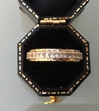 Women's 9ct Gold Full Eternity Ring CZ Stones Size O Weight 2.64g Stamped