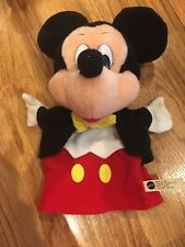 Vintage 1993 Mickey Mouse Plush Hand Puppet in great condition
