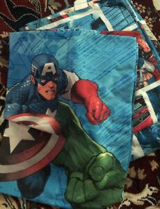 Marvel Comics THE AVENGERS  HULK/CAPTAIN AMERICA TWIN SIZE SHEET SET 3 Pieces