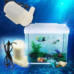 DC 3V-6V Small Micro Submersible Mini Water Pump Fish Tank Fountain Aquarium HQ