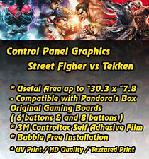 """Arcade Panel Graphic Street Fighter For Up To """"30.3 x """"7.8 Arcade Gaming Boards"""