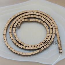 Hematite Gemstone Square Cube  Beads 16'' 2mm 3mm 4mm 6mm Healing Smooth & Matte
