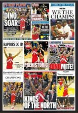 "Toronto Raptors ""NBA Championship Newspaper Covers""  Poster Print Ad"
