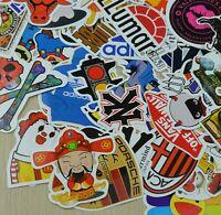 100 Random music film Vinyl Skateboard Guitar Travel Case sticker lot pack decal