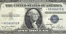 1935D $1 BLUE Seal **STAR** SILVER Certificate! Old US Paper Money Currency!