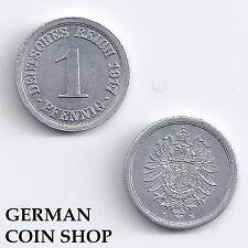 1 Pfennig Aluminium 1917 A D E F G J - bitte auswählen - Kriegsgeld Kaiserreich