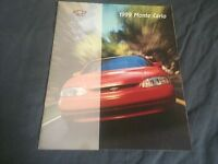 1999 Chevy Chevrolet Monte Carlo Color Brochure Catalog Prospekt