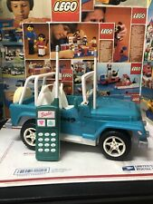 Vintage Barbie Jeep Wrangler Blue Beach 1999 Mattel Lights Work Nice Condition