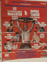 £9.99 START DAVID SAVAGE HAND SIGNED FIGHT FLYER WITH COA - MAKE AN OFFER