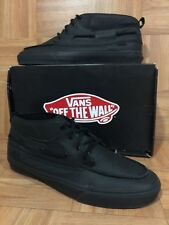 RARE🔥 VANS Zapato Del Barco Decon CA Matte Leather Murdered Out Black Hiker 13