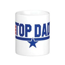 TOP DAD MUG NOVELTY GIFT FATHERS DAY PRESENT TEA COFFEE CUP FATHER  GUN