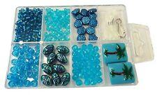 Bead Box Blue Palm Tree Variety Beads  badge holder Bracelet kit DIY Jewelry